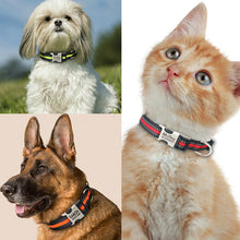 Reflective Nylon Personalized Pet ID obojek