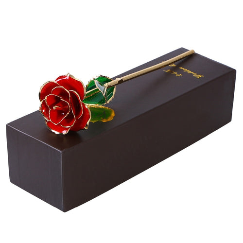 24K GOLD DIPPED ETERNITY ROSE- Valentines Day Gift For Her