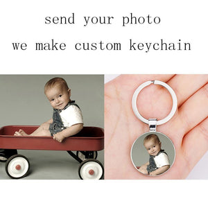 Personalized Photo Keychain With Double Photo