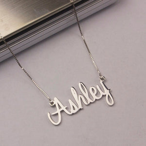 Custom Name Necklace with Box Chain