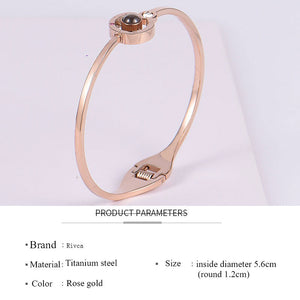 100 Languages ​​I Love You Bracelet- San Valentino regalo per lei