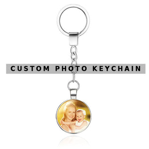 Custom Photo Calendar Keychain- Double Sided Photo
