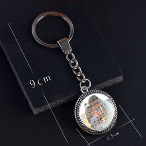 Personalized Photo Calendar Keychain- Date highlighted with heart