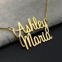 Personalized Two Names Necklace