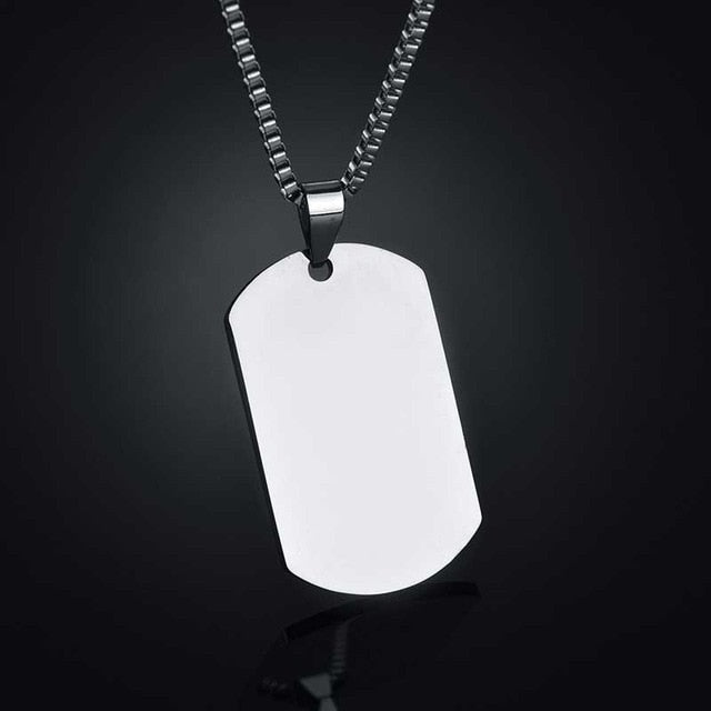 Custom Dog Tag Photo Necklace For Men