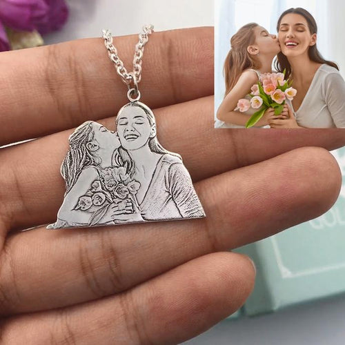 925 Sterling Silver Photo Pendant Necklace