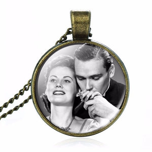 Custom Photo Pendant Necklace for Mothers Day