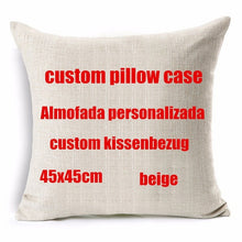 Personalized Linen Print Photo Cushion Cover
