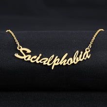 Custom Nameplate Necklace 18k Gold Plated