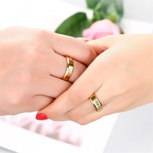 "Promise Rings For Couple, Gravur ""Her King"" ""His Queen"" mit Krone"