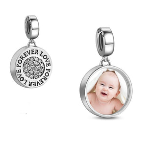 Custom Photo Forever Love Charms Beads