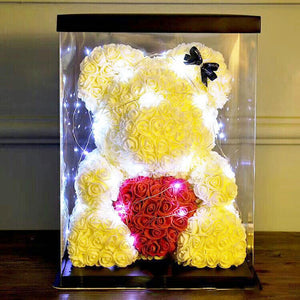 Luxury BIG LED Rose Bear With Gift Box : 2020's Best Anniversary Romantic Gift