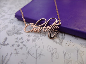 Custom Cursive Name Necklace in 18k Gold Plated