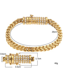 Hip Hop Jewelry Set- 6mm Wheat Franco Chain