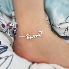 Custom Name Anklet Bracelet 18K Gold Plated