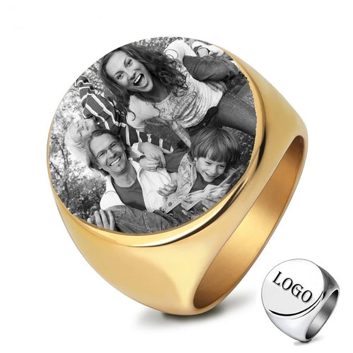 Customized Rings Engrave with Name/ Photo /Logo