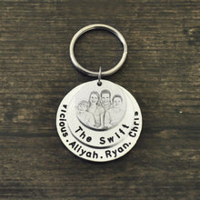 Custom Family Photo Keychain with Name