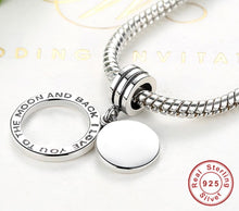 Custom Engrave Name Charms, Fit Pandora Bracelet