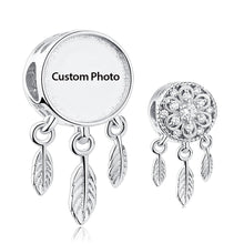 Custom Photo Charm mit 925 Sterling Silber Traumfängerhalter