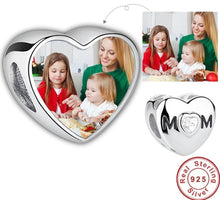 Personalized Heart Shape Charm- Gift for Mom
