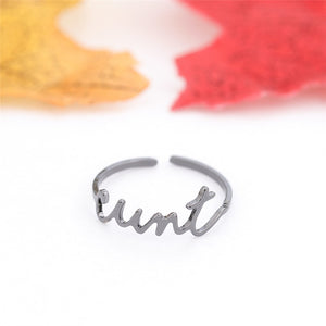 Personalized Name Ring