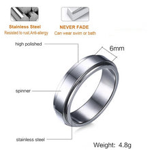 Personalized Spinner Ring with Name and Date