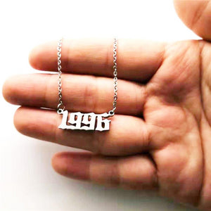Custom Number Necklace, 1996 Birth Year