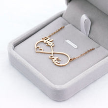 18K Gold Plated Personalized Infinity Necklace with 2 /3/ 4 Names