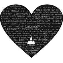 Personalized I Love You 100 Language Projection Pendant