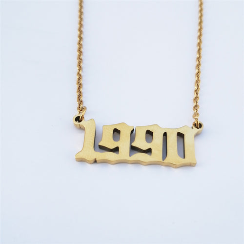 Personalized Number Necklace, 1990 Birth Year
