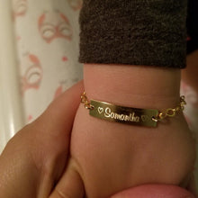 Custom Kids Name Bracelet with Adjustable Chain