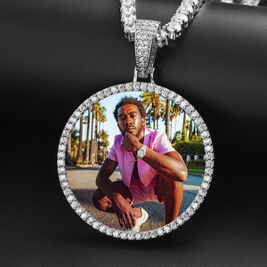 Custom Photo Medallions Necklace- Choose Your Favorite Size