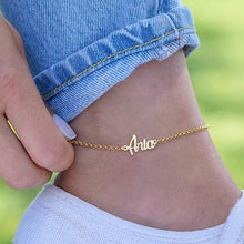 Custom Ankle Bracelet -18k Gold Plated