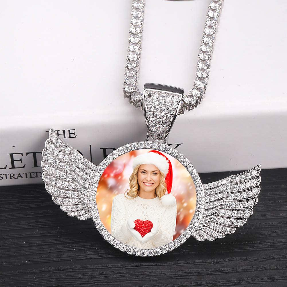 Photo Wings Medallions Necklace