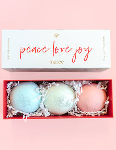 Musee Peace, Love, Joy Bath Balm Set