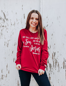 Jesus Long Sleeve Tee