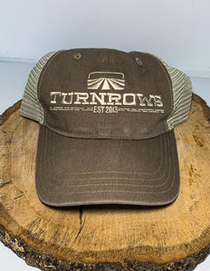 Turnrows Vintage Wash  Logo Mesh Back Hat