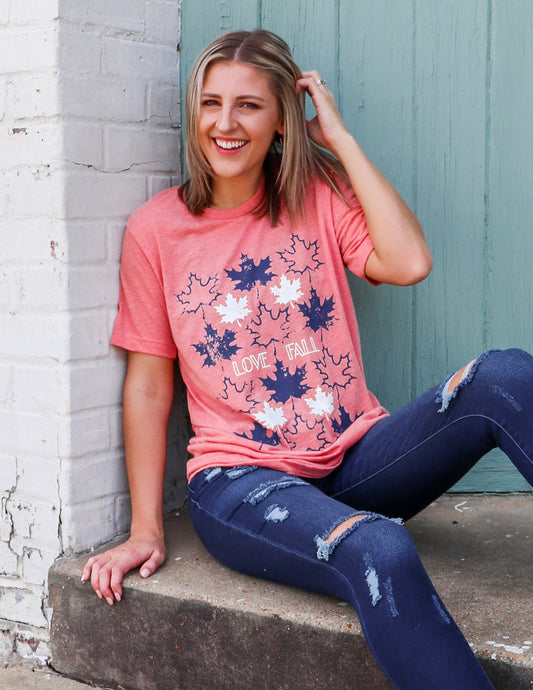 Love Fall Leaves Graphic Tee