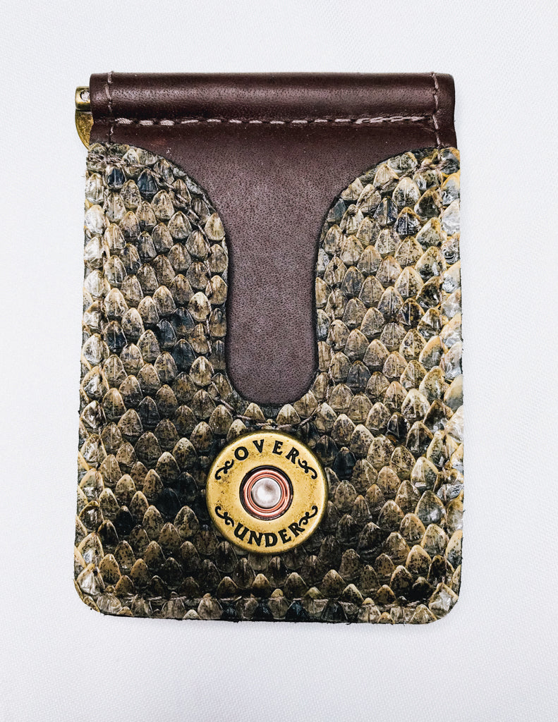 Over Under Rattlesnake Front Pocket Wallet