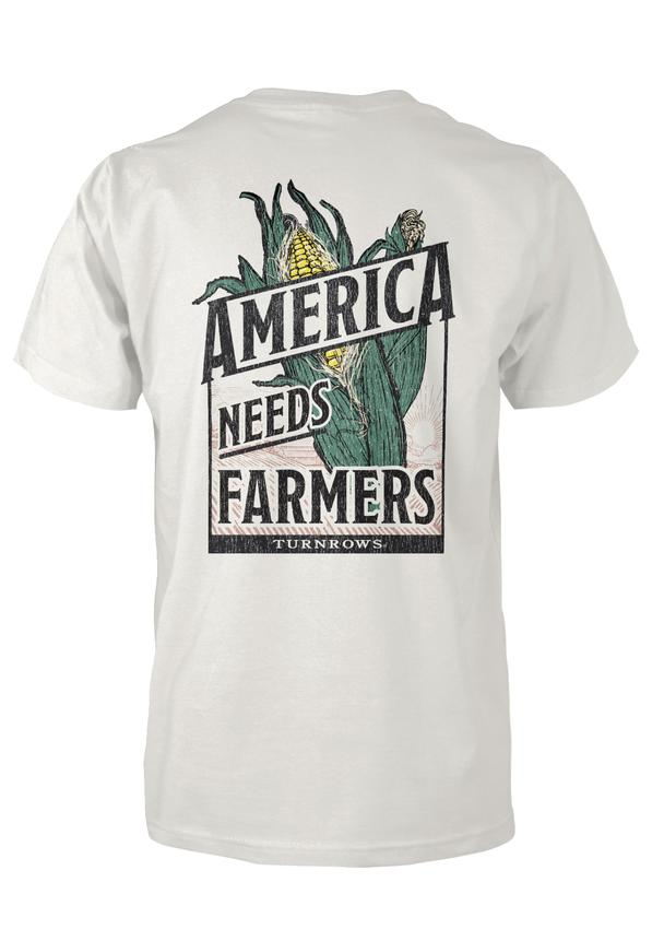 Turnrows Men's America Needs Farmers Short Sleeve Tee
