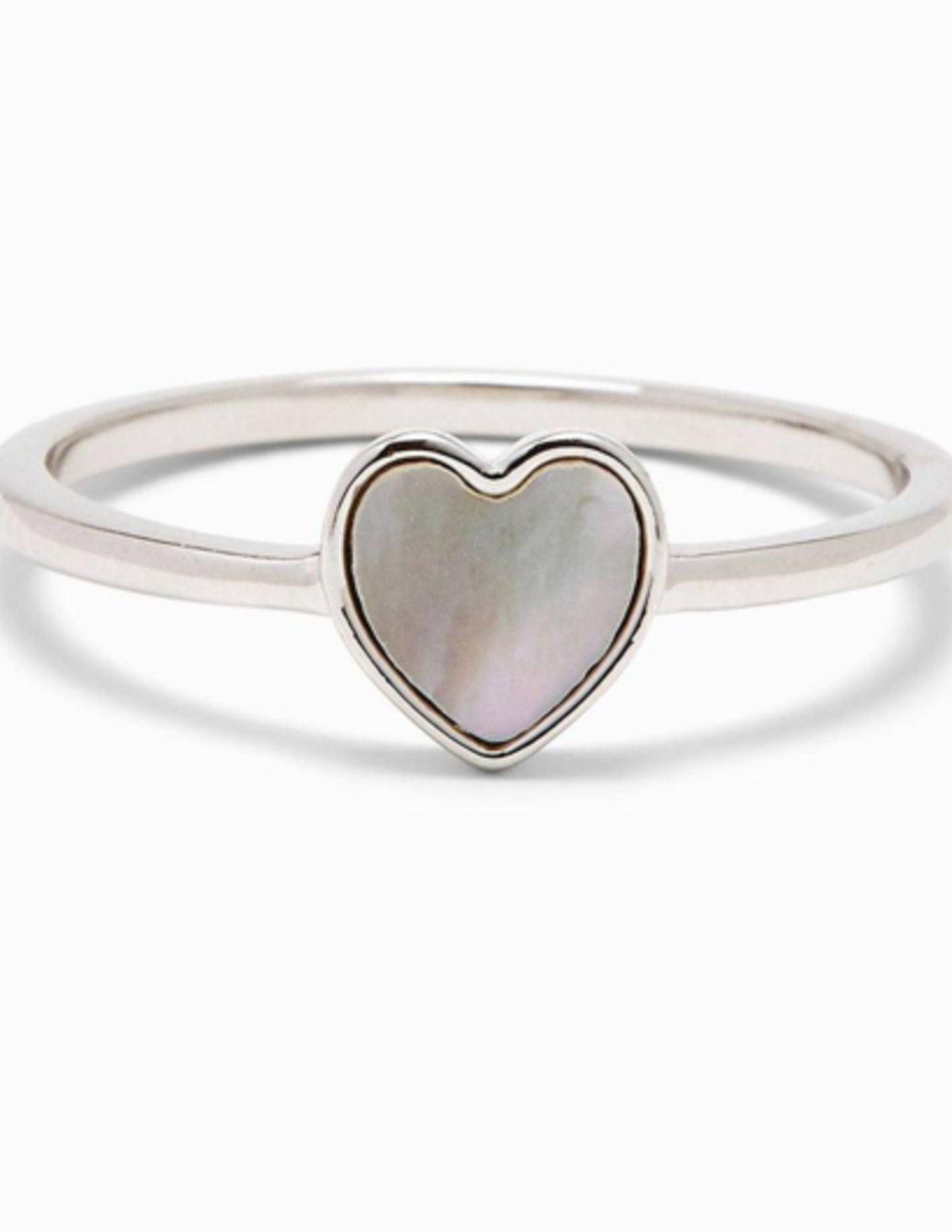 Pura Vida Heart of Pearl Silver Ring