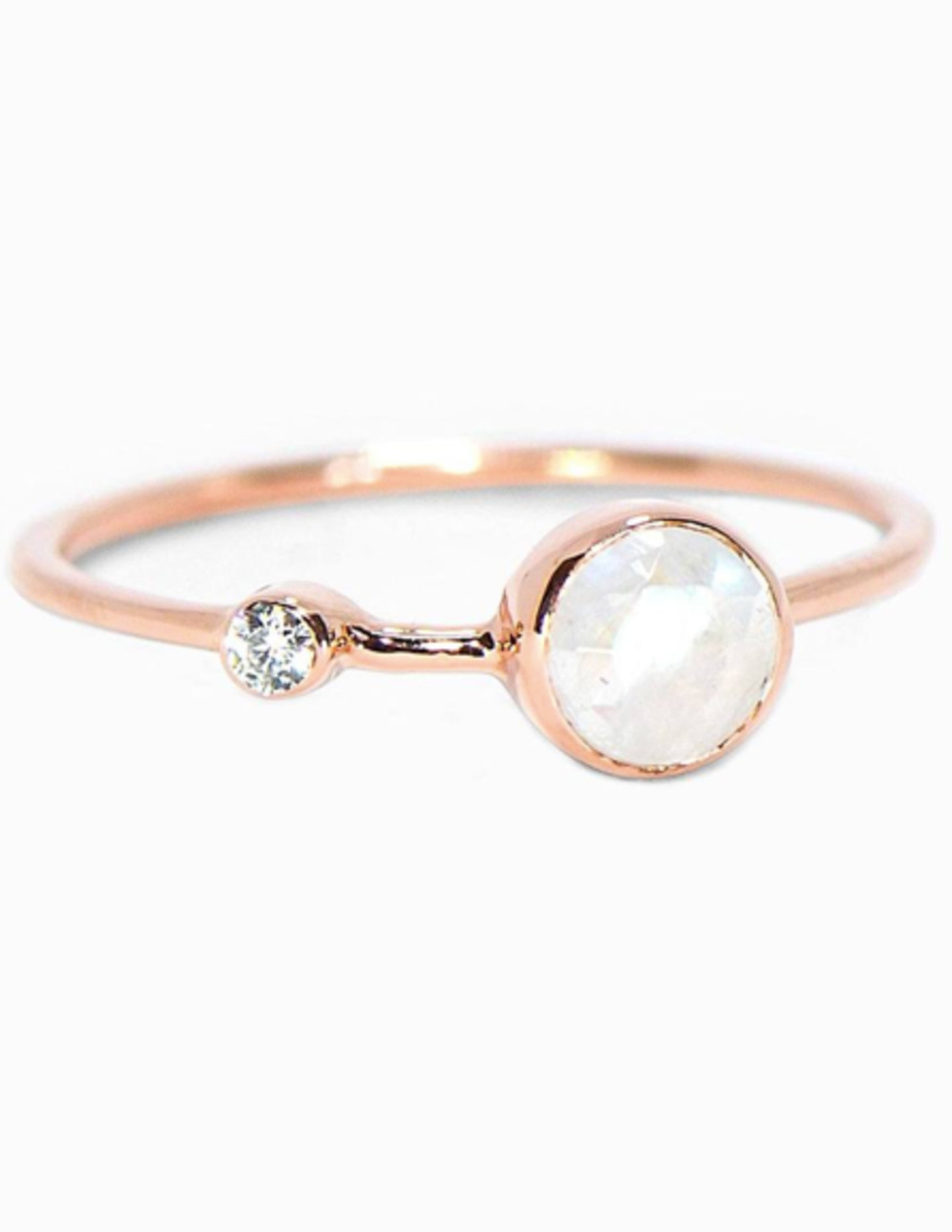 Puravida Moonstone Double Stone Ring