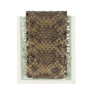 Over Under Rattlesnake Skin Money Clip