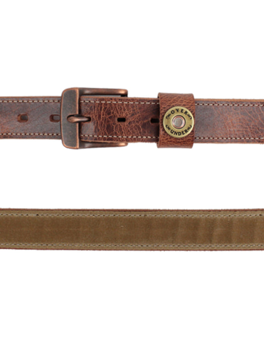 Over Under The Field Tan Waxed Canvas Belt