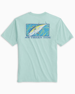 Southern Tide Men's Mosaic Tuna  Short Sleeve Tee