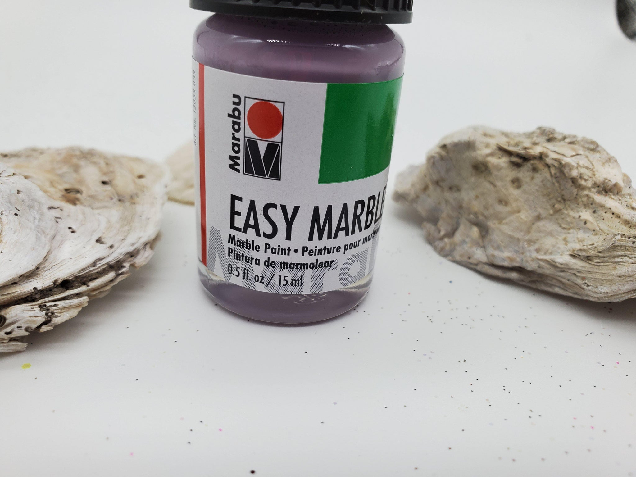 Lilac easy marbling paint