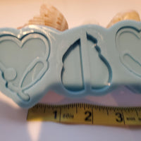 Heart stethoscope straw topper mold