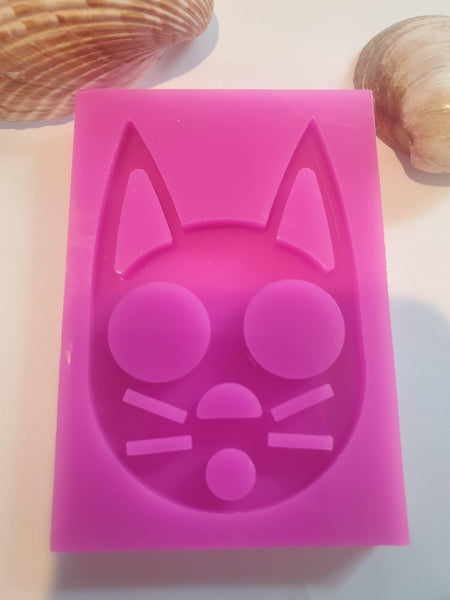 Cat Self Defense keychain mold