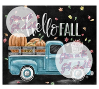 Hello fall old truck