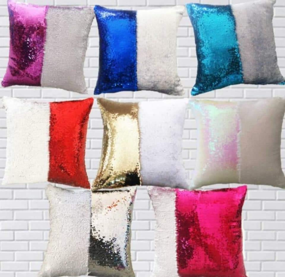 sequin pillow sublimation blank